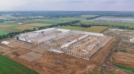 Projekt architektoniczny hali logistyczno magazynowej w centralnej Polsce