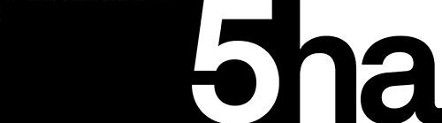 5ha projektowanie przemysłowe logo biale png