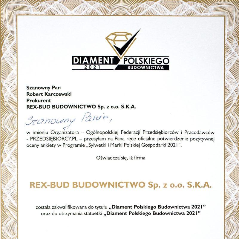 Diamenty Polskiego Budownictwa 2021