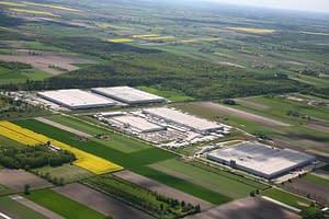hala przemysłowa, centrum logistyczno-magazynowe prologis park w teresinie - budowany przez generalnego wykonawcę rex-bud